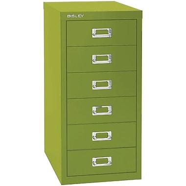 Bisley – Classeur en acier à 6 tiroirs, vert, lettre/A4 (MD6-GR)