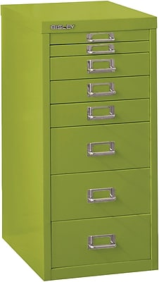 Bisley Eight Drawer Steel Multidrawer, Green, Letter/A4 (MD8-GR)