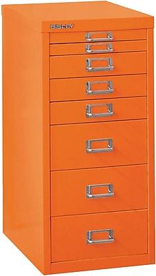 Bisley Eight Drawer Steel Multidrawer, Orange, Letter/A4 (MD8-OR)