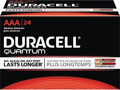 Duracell Quantum AAA Battery, 24/Box (QU2400BKD)