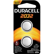 Duracell DL2032 3 Volt Lithium Battery, 2/Pk