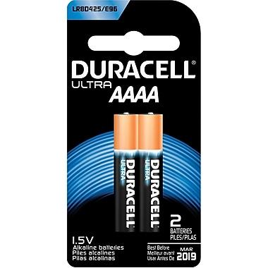 Duracell MX2500 Ultra AAAA Batteries, 2/Pack (MX2500B2PK)