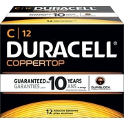 Duracell C Alkaline Batteries, 72/Pack