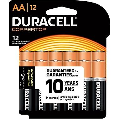 Duracell AA Alkaline Batteries, 12/Pack