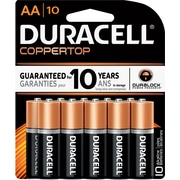 "Duracell CopperTop Alkaline ""AA"" Batteries, 1.5V, 10/Pack (MN1500B10Z)"