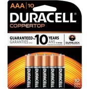 Duracell Coppertop AAA Alkaline Batteries, 10/Pack