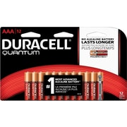 Duracell® Quantum Alkaline Batteries with Duralock Power Preserve™ Technology, AAA, 12/Pack (QU2400B12Z)