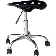 OneSpace Plastic Tractor Seat Task chair, Black (60-101405)
