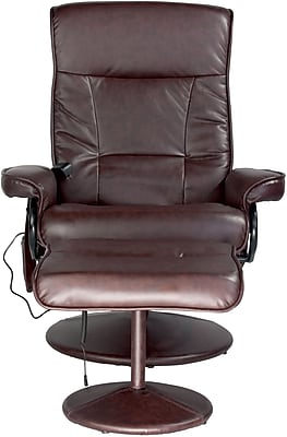 Relaxzen PVC Leisure Recliner, Brown (60-425111)