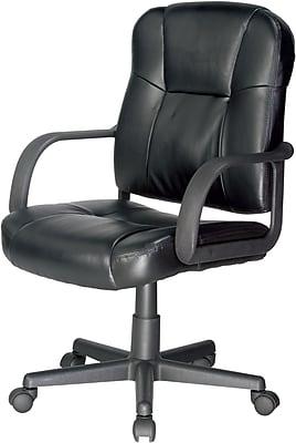 Relaxzen Bonded Leather Massage Task Chair, Black (60-6814)