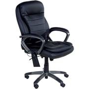 Relaxzen Bonded Leather Massage Executive, Black (60-3383)