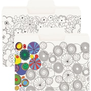 Smead® SuperTab® Coloring Folder, Oversized 1/3-Cut Tabs, Letter Size