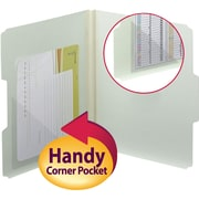 Smead® Self-Adhesive Poly Corner Pocket, Clear, 100/Box