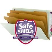 Smead® End Tab Pressboard Classification Folder with SafeSHIELD® Fasteners, Legal, 10/Box