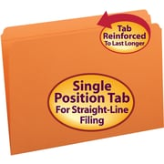 Smead® File Folder, Reinforced Straight-Cut Tab, Legal Size, 100/Box