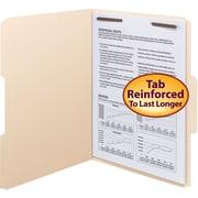 Smead® Fastener File Folder, 1 Fastener, Reinforced 1/3-Cut Tab, Manila, 50/Box