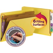 Smead® End Tab Pressboard Classification File Folder with 6 SafeSHIELD® Fasteners, 2 Dividers, Legal, 10/Box