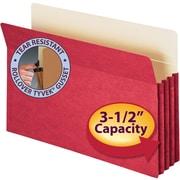 "Smead® Colored File Pockets, Legal, 3 1/2"" Expansion, Blue, Each"