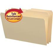 Smead® File Folders, Reinforced 1/2-Cut Tab, Manila, 100/Box