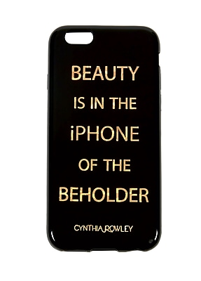 Cynthia Rowley, Soft Touch Shield Case, For Use With iPhone 6/6s, Black/Gold (CR-ST-6P1406BD)