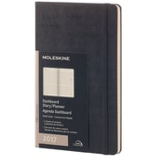 """2017 Moleskine® Weekly Dashboard Planner, 12 Month, 5"""" x 8.25"""", Black Hard Cover, Large (894264)"""