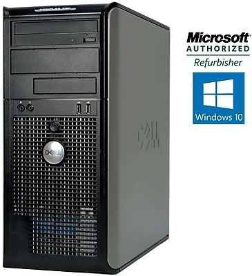 Refurbished Dell OptiPlex 780 Tower Intel Core 2 Duo 3.0Ghz 6GB RAM 750GB HDD Windows 10 Home