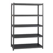 "Iron Horse 3800 Consealed Rivet 5-Shelf 72""H Metal Stand Alone Shelving Unit, Black (20998)"