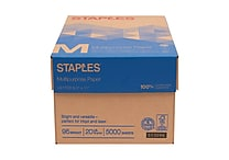 Staples® Multipurpose Paper, 8 1/2' x 11', Case