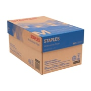 "Staples® Multipurpose Paper, 20 Lb., 96 Bright, 8 1/2"" x 11"", White, 10-Ream Case (513096-BL)"