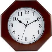 La Crosse Clock 404-2624O 9.5 Inch Octagon Wood Wall Clock