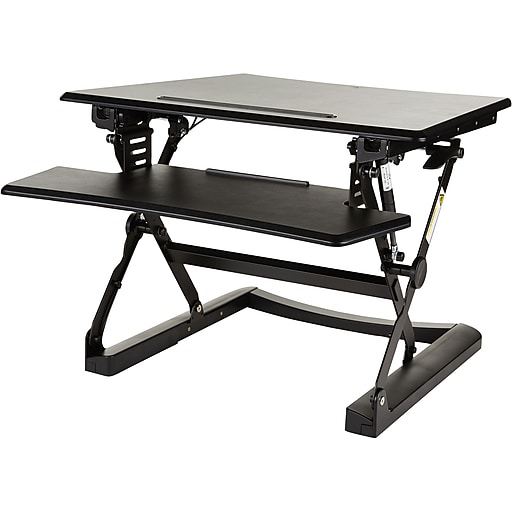 Peachy Staples Sit To Stand Adjustable Desk Riser 27 Home Interior And Landscaping Synyenasavecom