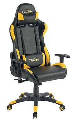 Techni Sport TS-4700 Ergonomic High Back Video Gaming Chair, Yellow