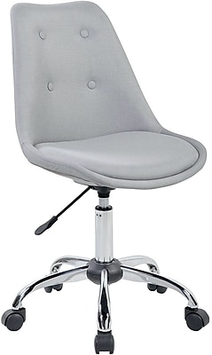 Techni Mobili Tufted Armless Task Chair, Gray
