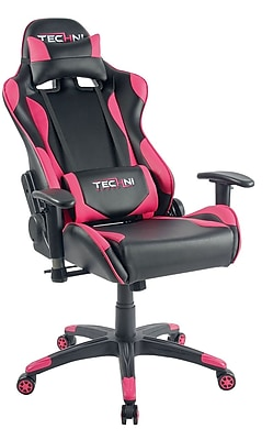Techni Sport TS TS-4500 Ergonomic High Back Video Gaming Chair, Pink