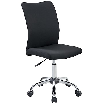 Techni Mobili Modern Armless Task Chair. Color: Black