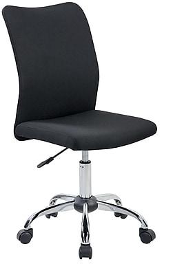 Merveilleux Techni Mobili Modern Armless Task Chair, Black