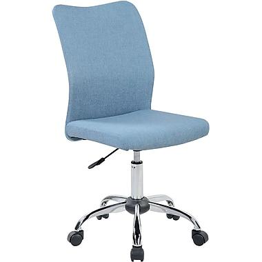 Techni Mobili Modern Armless Task Chair. Color: Blue Jeans