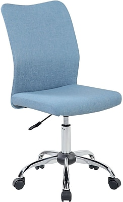 Techni Mobili Modern Armless Task Chair, Blue Jeans