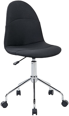 Techni Mobili Tufted Armless Task Chair, Black