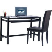 Techni Mobili Matching Desk with Keyboard Panel and Chair Set, Wenge