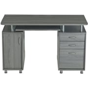 Techni Mobili Complete Workstation Computer Desk with Storage, Grey