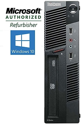 Refurbished Lenovo ThinkCentre M91 USFF Desktop Intel Core i5 3.1Ghz Processor 8GB RAM 180GB SSD Windows 10 Pro