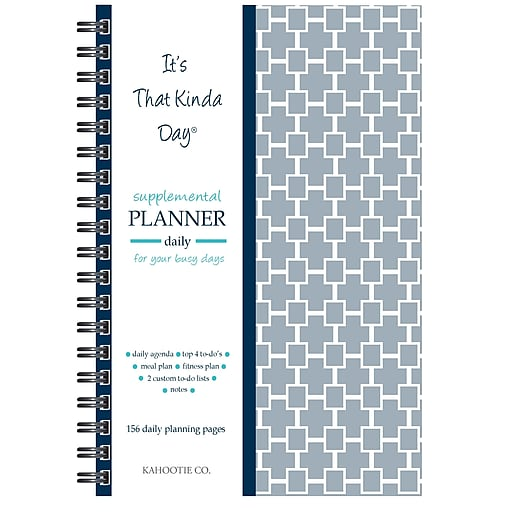 kahootie co it s that kinda day daily planner 6 x 9 gray