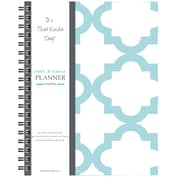 "Kahootie Co™ It's That Kinda Day™- Home & Work Weekly Planner, 9"" x 11.5"", Teal and White(ITKHWTW)"