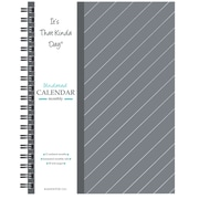 "Kahootie Co™ It's That Kinda Day™- Undated Monthly Calendar, 9"" x 11.5"", Gray Stripe (ITKCGS)"