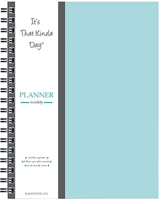 "Kahootie Co™ It's That Kinda Day™ Weekly Planner, 9"" x 11.5"", Teal (ITKLWT)"