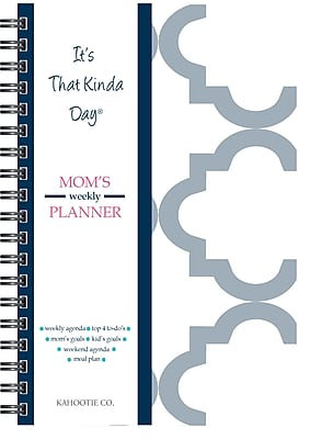 """Kahootie Co™ It's That Kinda Day™- Mom's Weekly Planner, 6"""" x 9"""", Gray (ITKMG)"""