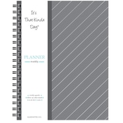 "Kahootie Co™ It's That Kinda Day™- Weekly Planner, 9"" x 11.5"", Light Gray Stripe (ITKLWLGS)"