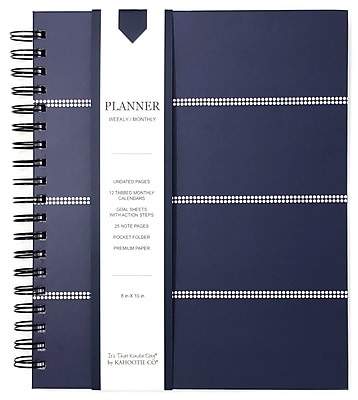 "Kahootie Co™ It's That Kinda Day™- Weekly Planner, 9"" x 11.5"", Dark Gray Stripe (ITKLWDGS)"