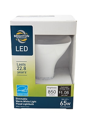 Brighton Professional™ 65w Equiv. LED Dimmable Flood Light Bulb